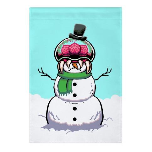 Metroid Snowman Garden Flag