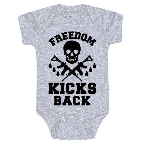 Freedom Kicks Back Baby Onesy