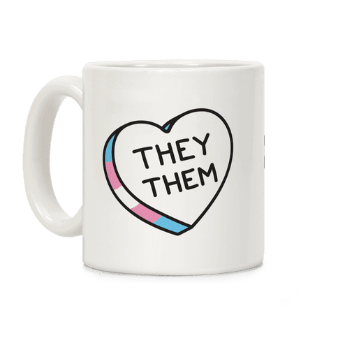 They Them Candy Heart Coffee Mug