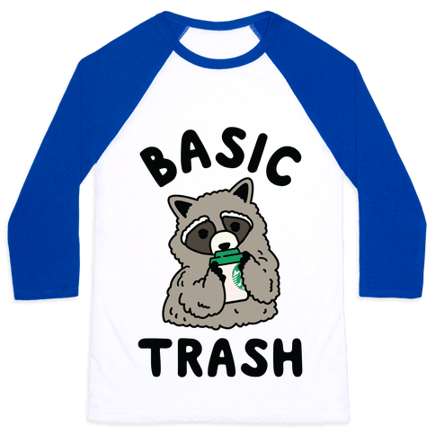 Basic Trash Coffee Raccoon Baseball Tee