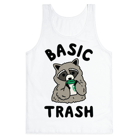Basic Trash Coffee Raccoon Tank Top