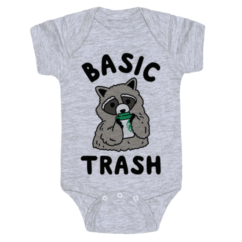 Basic Trash Coffee Raccoon Baby Onesy