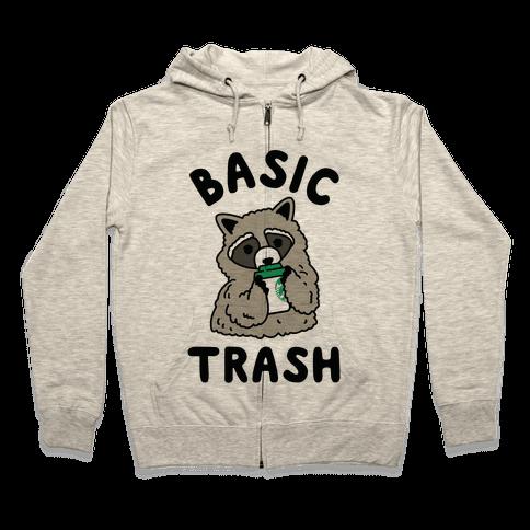 Basic Trash Coffee Raccoon Zip Hoodie