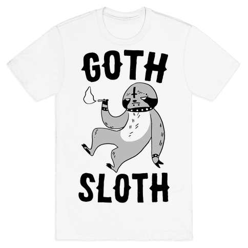 Goth Sloth Mens T-Shirt