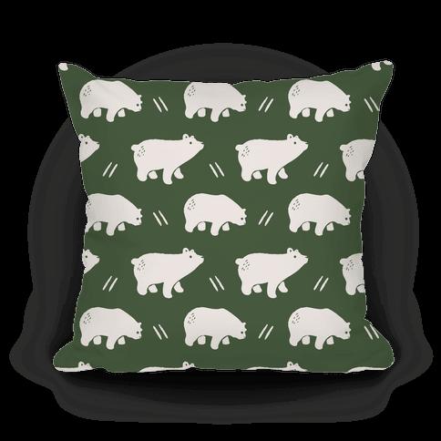 Bear Chive Boho Pattern Pillow