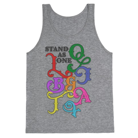 LGBTQIA+ Stand As One Tank Top
