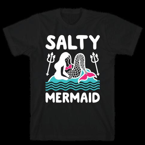 Salty Mermaid Mens T-Shirt