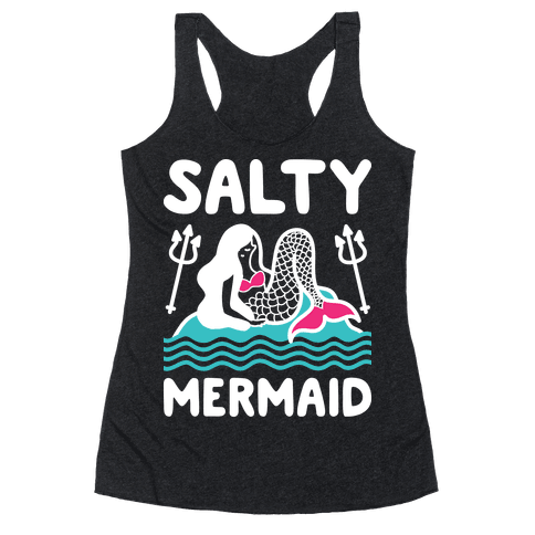Salty Mermaid Racerback Tank Top
