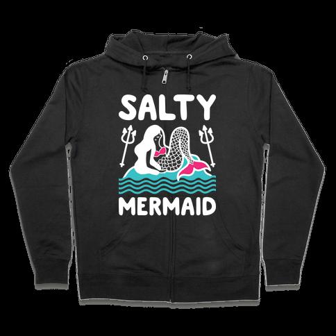 Salty Mermaid Zip Hoodie