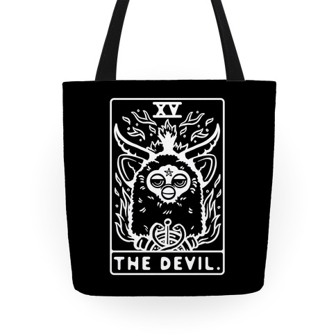 The Devil Tarot Card Furby Tote