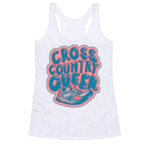 Cross Country Queer Racerback Tank Top