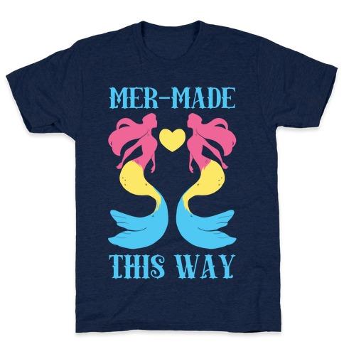Mer-Made This Way - Pan Mens T-Shirt