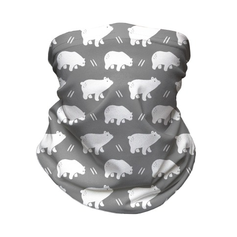 Bear Grey Boho Pattern Neck Gaiter