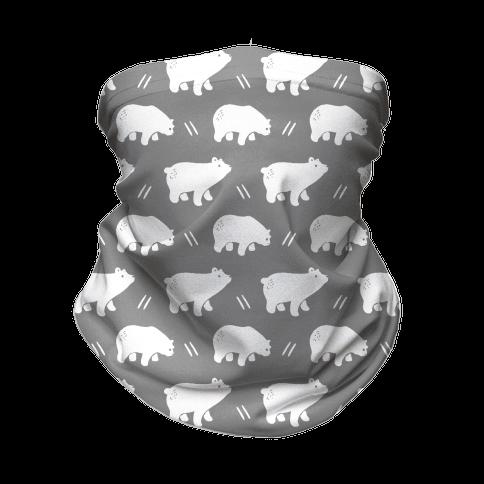 Bear Grey Boho Pattern Neck Gaiter