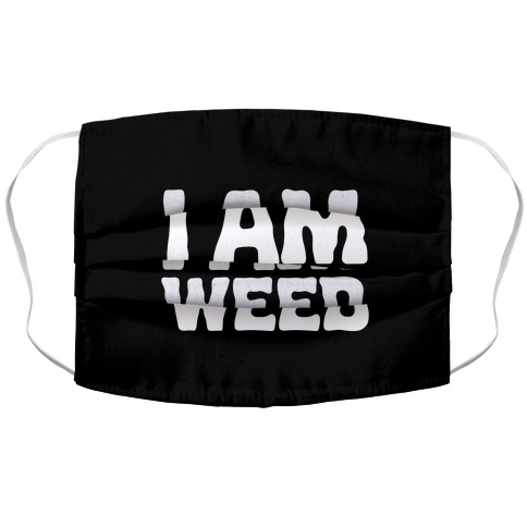 I AM Weed Accordion Face Mask