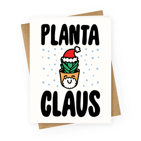 Planta Claus Greeting Card