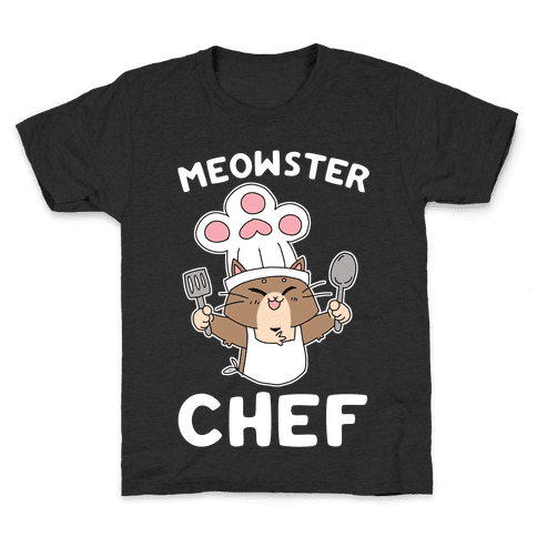 Meowster Chef Kids T-Shirt