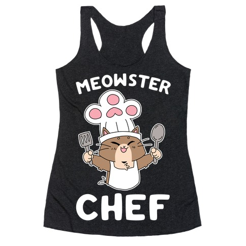 Meowster Chef Racerback Tank Top