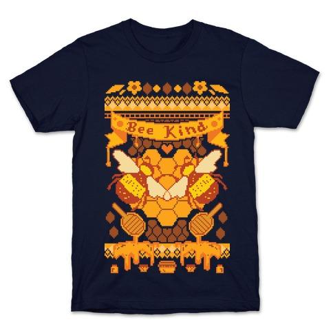 Bee Kind Sweater Pattern T-Shirt