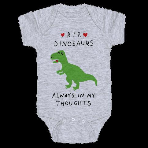 RIP Dinosaurs Baby Onesy