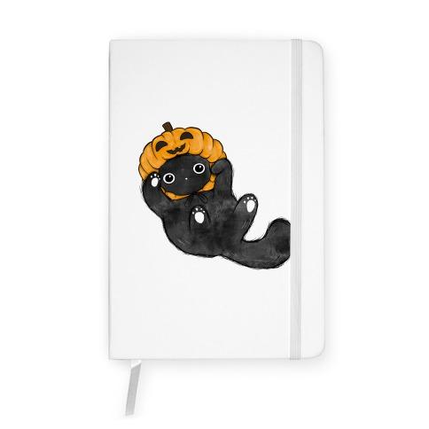 Halloween Pumpkin Cat  Notebook