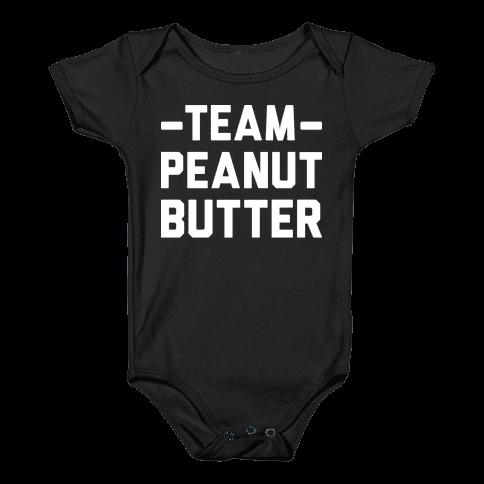 Team Peanut Butter Baby Onesy
