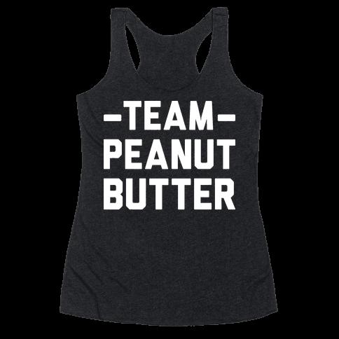 Team Peanut Butter Racerback Tank Top