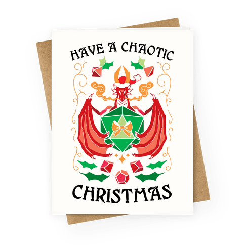 Have A Chaotic Christmas Greeting Card