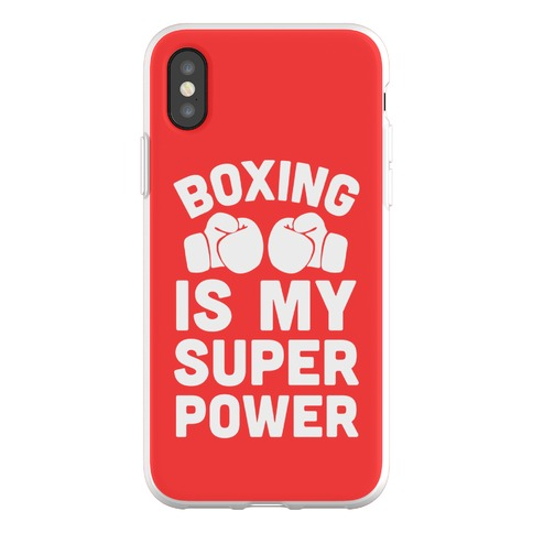 Boxing Is My Superower Phone Flexi-Case