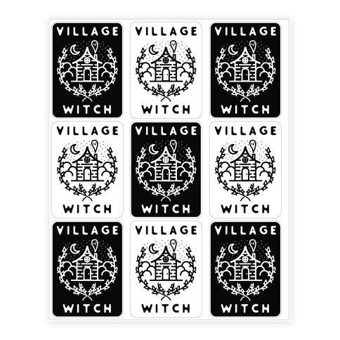 Village Witch Sticker/Decal Sheet