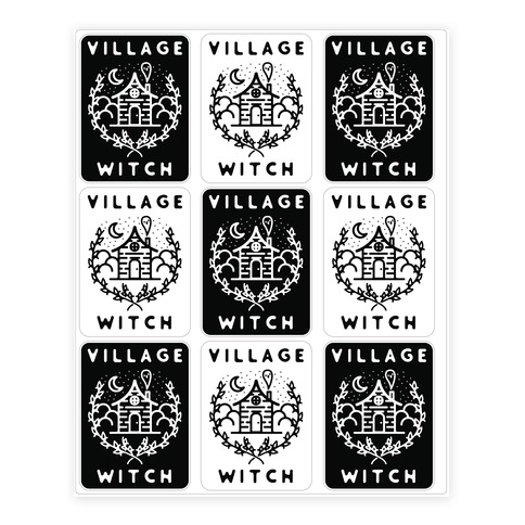 Village Witch Sticker/Decal Sheet
