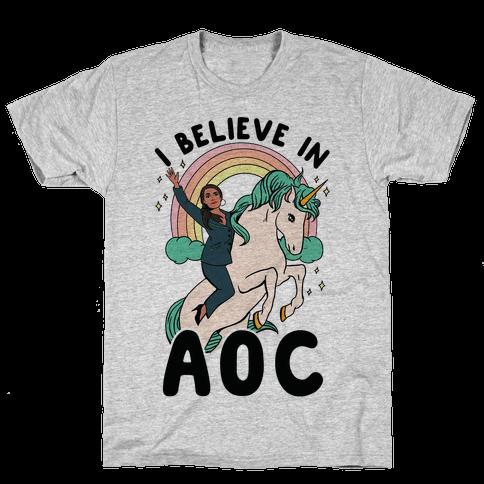I Believe in AOC (Alexandria Ocasio-Cortez) Mens/Unisex T-Shirt