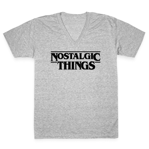 Nostalgic Things Parody V-Neck Tee Shirt