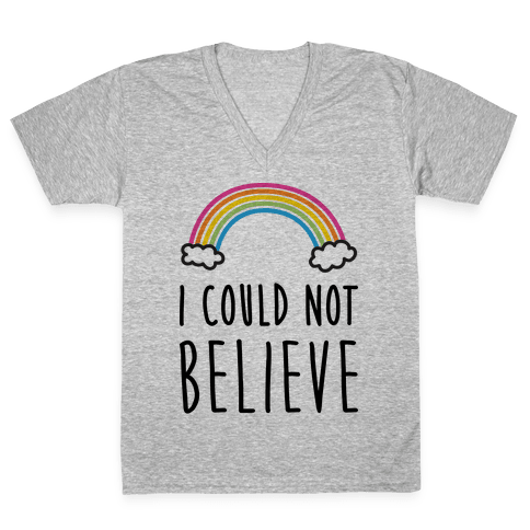 I Could Not Believe Queer Eye Rainbow (Pair 2/2) V-Neck Tee Shirt