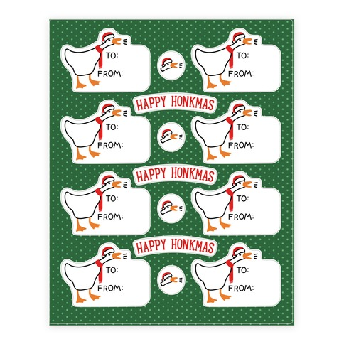 Happy Honkmas Goose Sticker/Decal Sheet