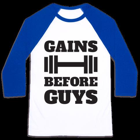 Gains Before Guys Baseball Tee