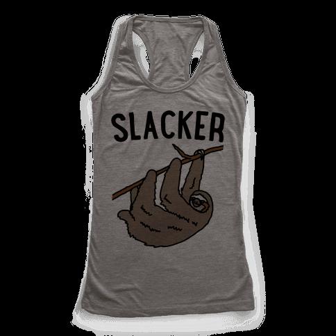 Slacker Sloth  Racerback Tank Top