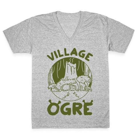 Village Ogre V-Neck Tee Shirt