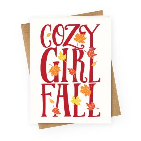 Cozy Girl Fall Greeting Card