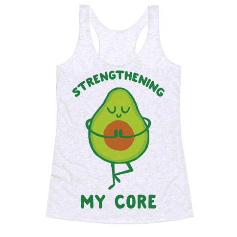 Strengthening My Core Racerback Tank Top