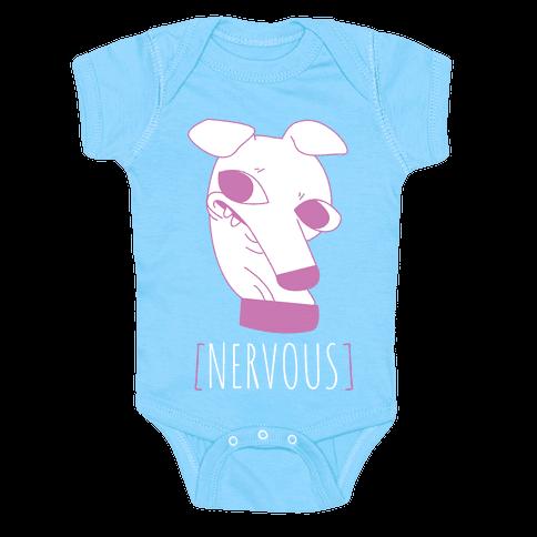 Nervous Dog Baby Onesy