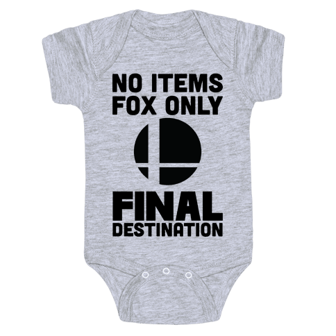 No Items, Fox Only, Final Destination Baby Onesy