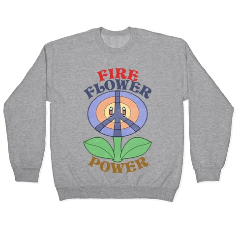 Fire Flower Power Pullover