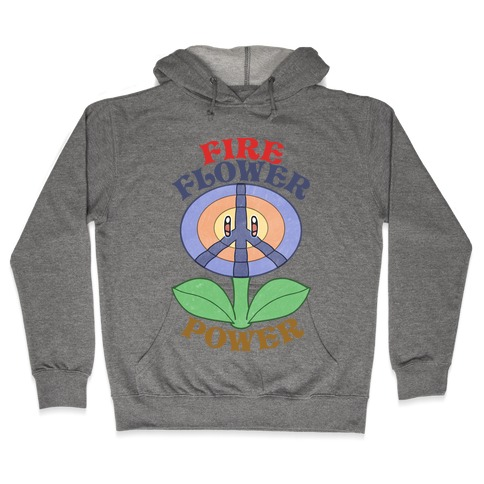 Fire Flower Power Hooded Sweatshirt