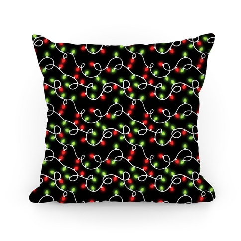 Christmas Lights Pattern Pillow