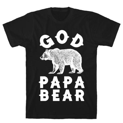 God Papa Bear Mens T-Shirt