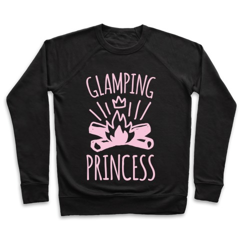 Glamping Princess White Print Pullover
