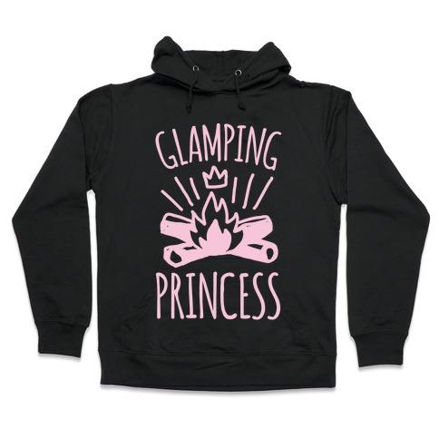 Glamping Princess White Print Hooded Sweatshirt