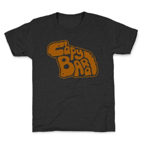 Capybara Font Illustration Kids T-Shirt