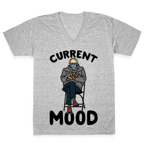 Current Mood Sassy Bernie Sanders V-Neck Tee Shirt